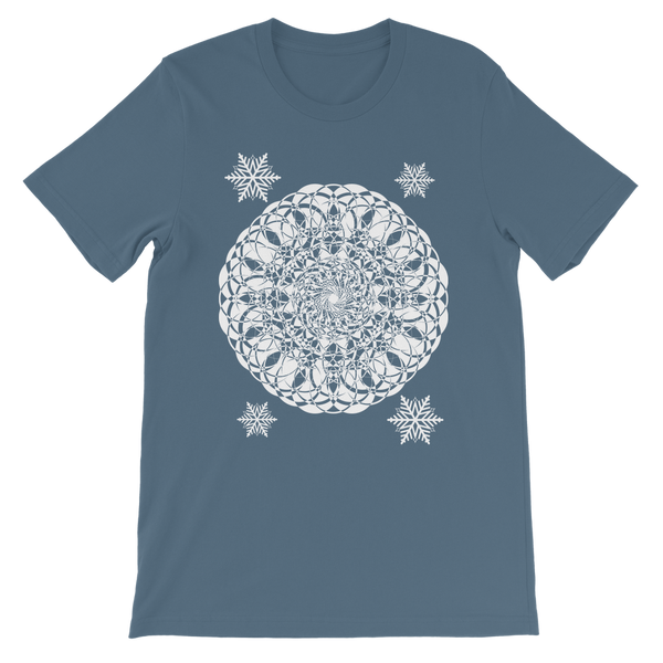 Christmas Mandala with Snowflakes Classic Kids T-Shirt