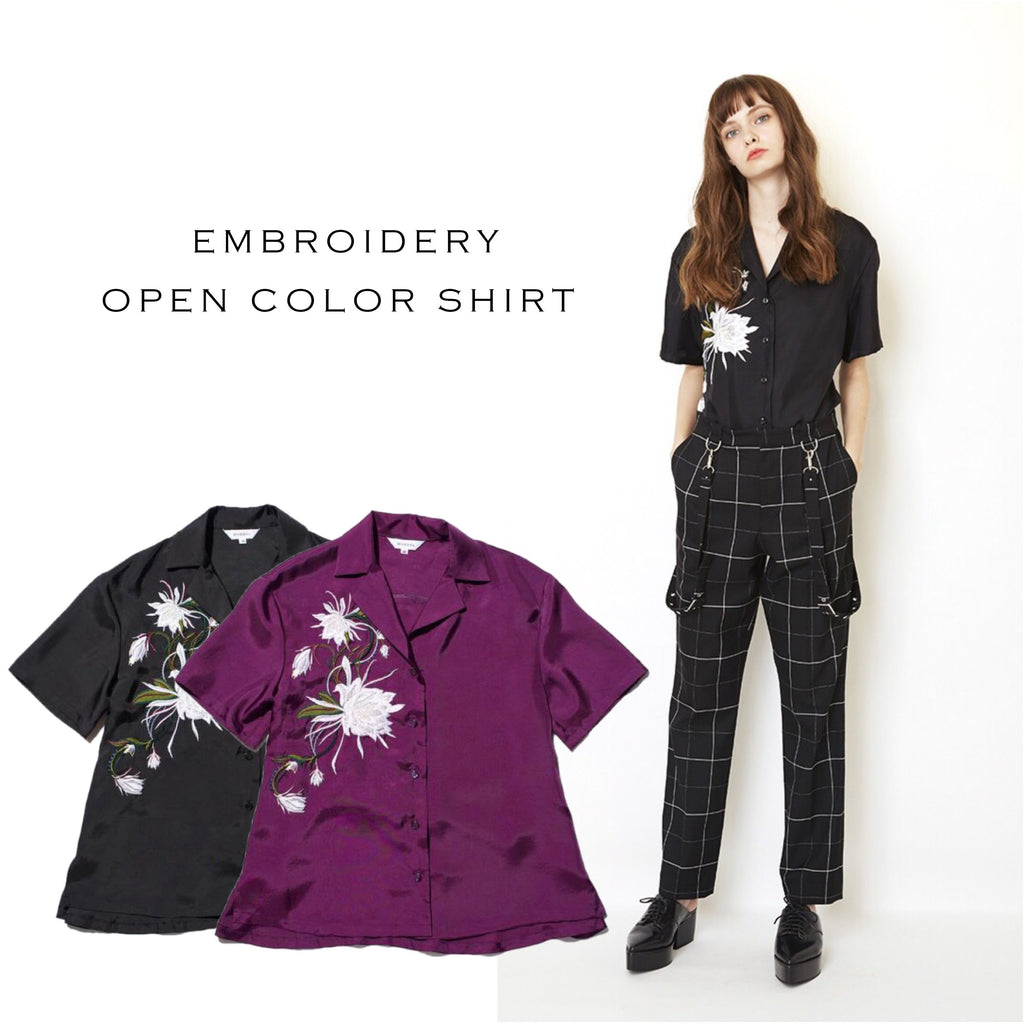 EMBROIDERY OPEN COLOR SHIRTS
