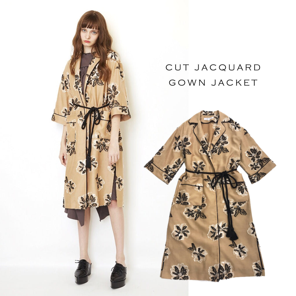 CUT JACQUARD GOWN JACKET