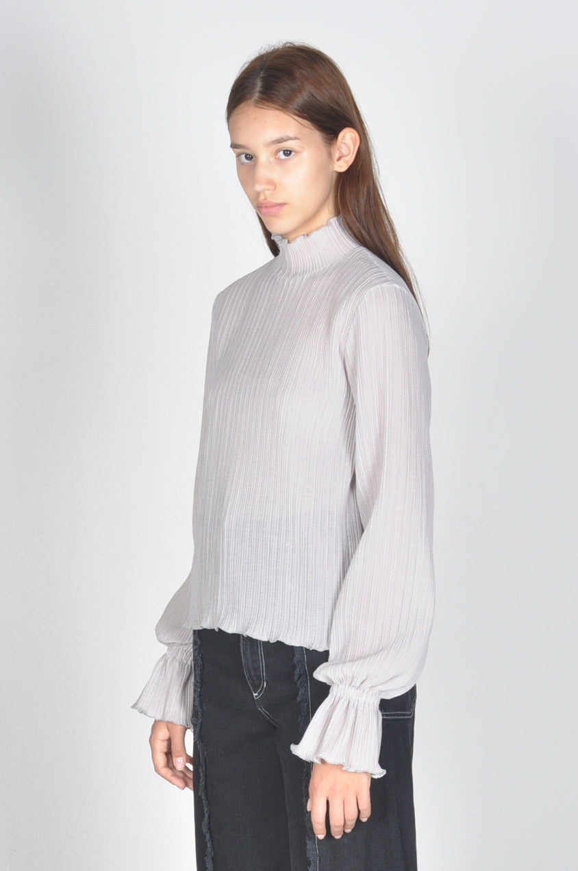 Translucent Pleated Top