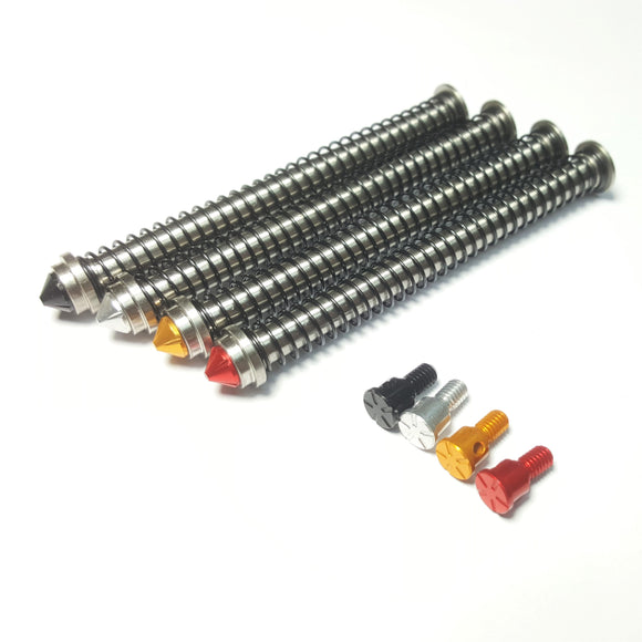 AIRSOFT ARTISAN MODULAR STAINLESS RECOIL SPRING GUIDE FOR G17 GBB (BLACK / SILVER / GOLD / RED )