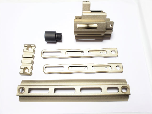 AIRSOFT ARTISAN SCAR MLOK ADAPTER KIT SET (DX Ver) for WE / VFC SCAR GBB/AEG Series (DE)