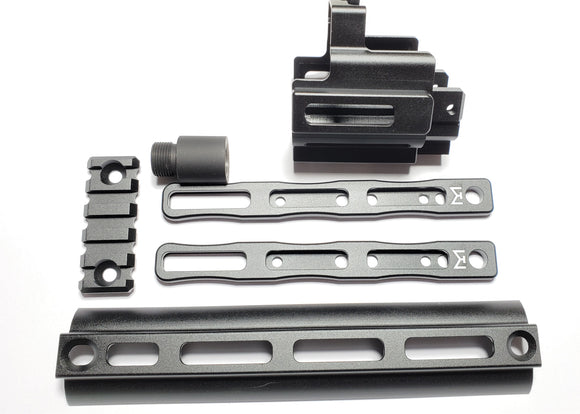 AIRSOFT ARTISAN SCAR MLOK ADAPTER KIT SET (DX Ver) for WE / VFC SCAR GBB/AEG Series (BK)