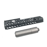 AIRSOFT ARTISAN SUR300 Handguard with Silencer For Cyber Gun MCX Legacy AEG