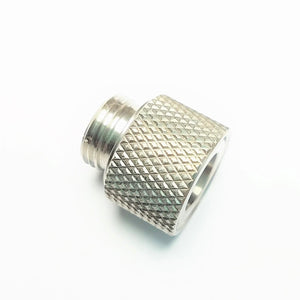 Airsoft Artisan Stainless Steel Muzzle Adaptor for WE Pistol (11mm CW to 14mm CCW) (Silver)