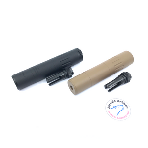 AIRSOFT ARTISAN M4 2000 STYLE silencer with  FLASH HIDER ( BLACK/DARK EARTH)