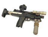 AIRSOFT ARTISAN Retractable Stock For KSC/KWA/ASG  MP9/TP9 Series ( DARK EARTH / BLACK )
