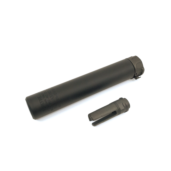 AIRSOFT ARTISAN SF STYLE 8.4INCH SOCOM SILENCER + 3 PRONG FLASH HIDER (BLACK)