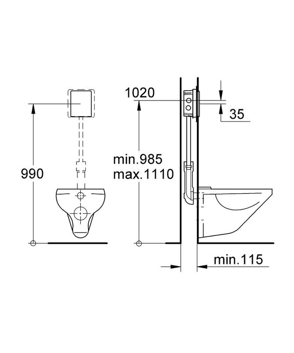 Flush valve for WC - elbow45.com