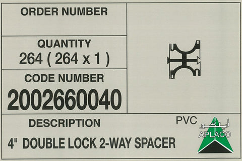 double lock pipe spacer