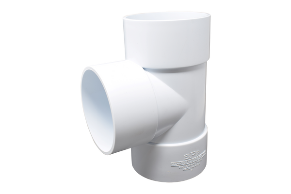 tee UPVC white - elbow45.com