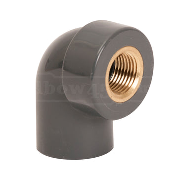 female elbow brass insert pvc sch80