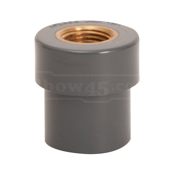 female coupling brass insert sch80 - elbow45.com