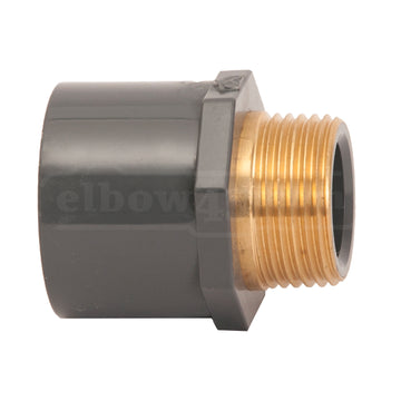 male adaptor brass insert pvc-u