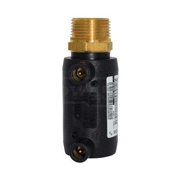 electrofusion transition male socket brass - elbow45.com