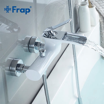 Frap Bathtub Faucets Chrome Brass Shower Set Bathtub Mixer Tap Single Handle Dual Contral Shower system For Bathroom Y30001