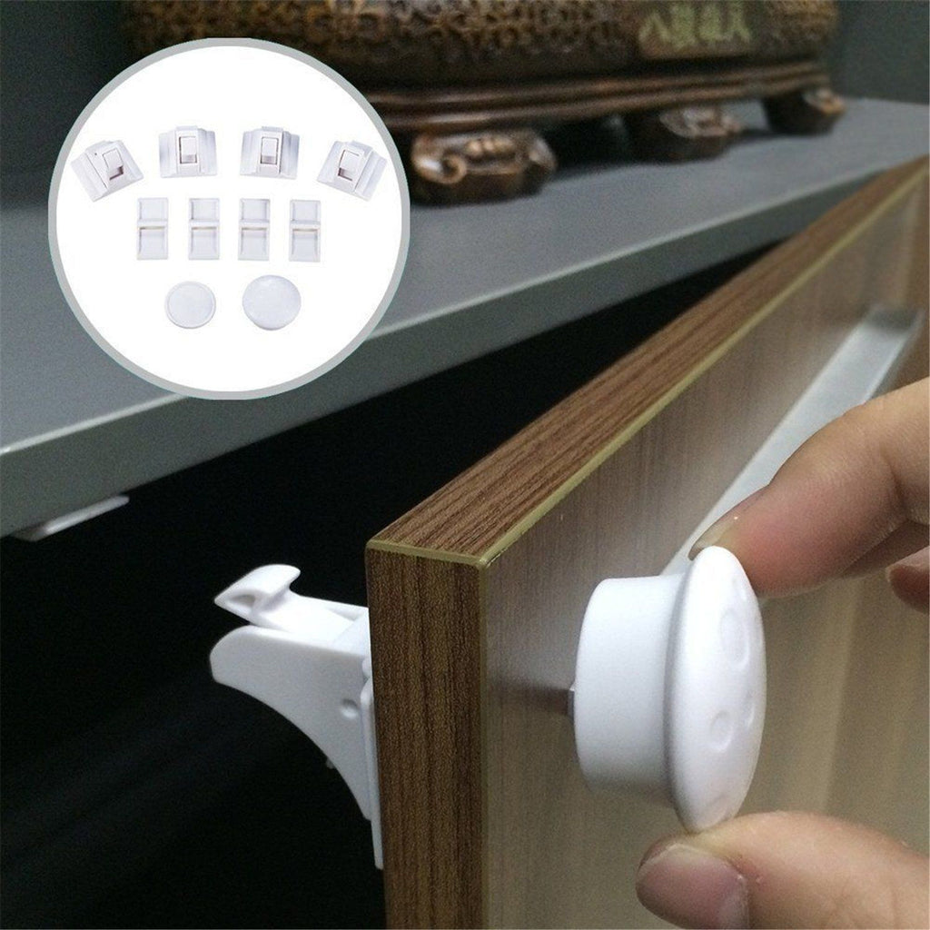 Drill-Free Magnetic Cabinet Lock (4PCs)