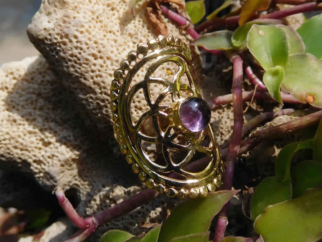 Amethyst Seed of Life Ring - Avashy