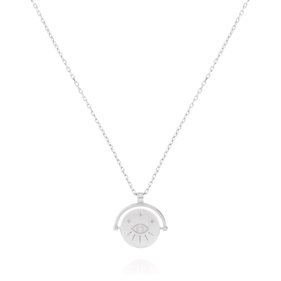 Protection Amulet Charm Necklace - Sterling Silver