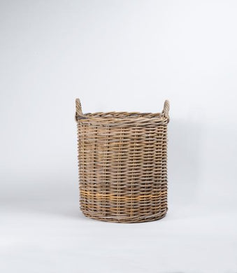Rattan Tall Laundry Basket *LOCAL DELIVERY ONLY