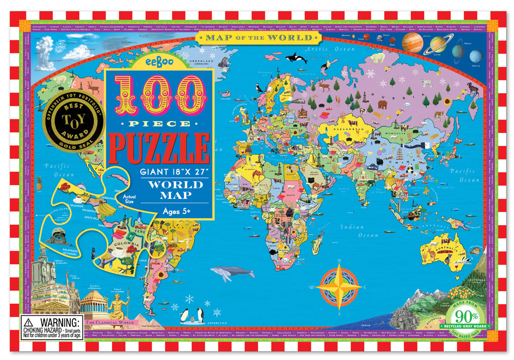 Puzzle World Map 100pcs