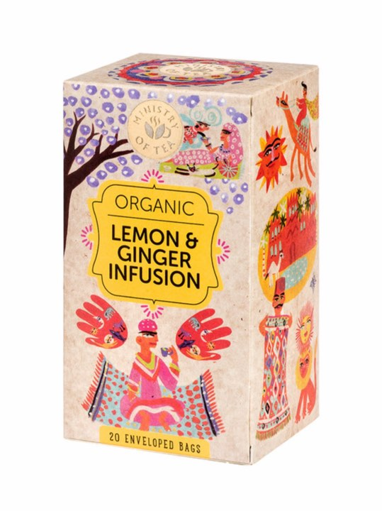 MOT Organic Lemon & Ginger Tea