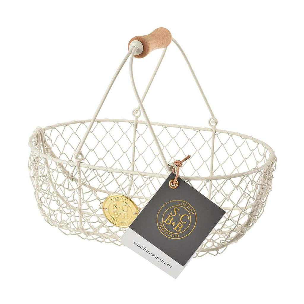 Wire Harvest Basket Small - Eggshell
