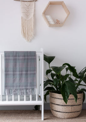 Tartan Baby Blanket - Supersoft Lambswool - Misty Pink
