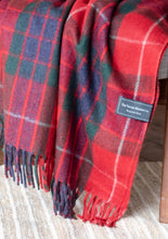 Tartan Traveller Blanket - Recycled Wool - Fraser Red