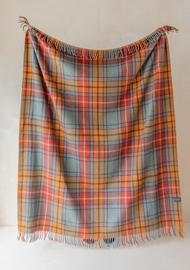 Tartan Blanket - Recycled Wool - Buchanan Natural