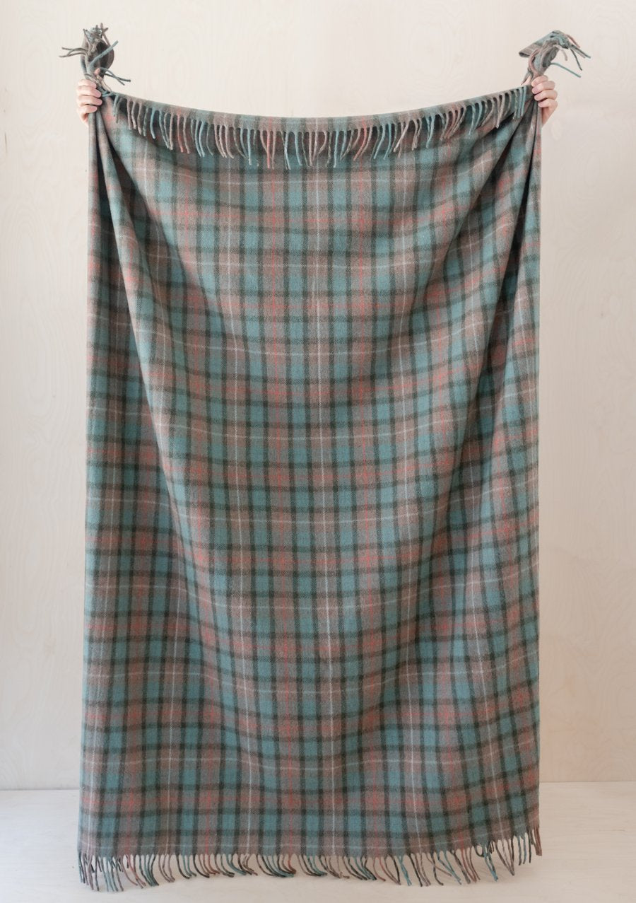 Tartan Blanket - Recycled Wool - Fraser Hunting Weathered