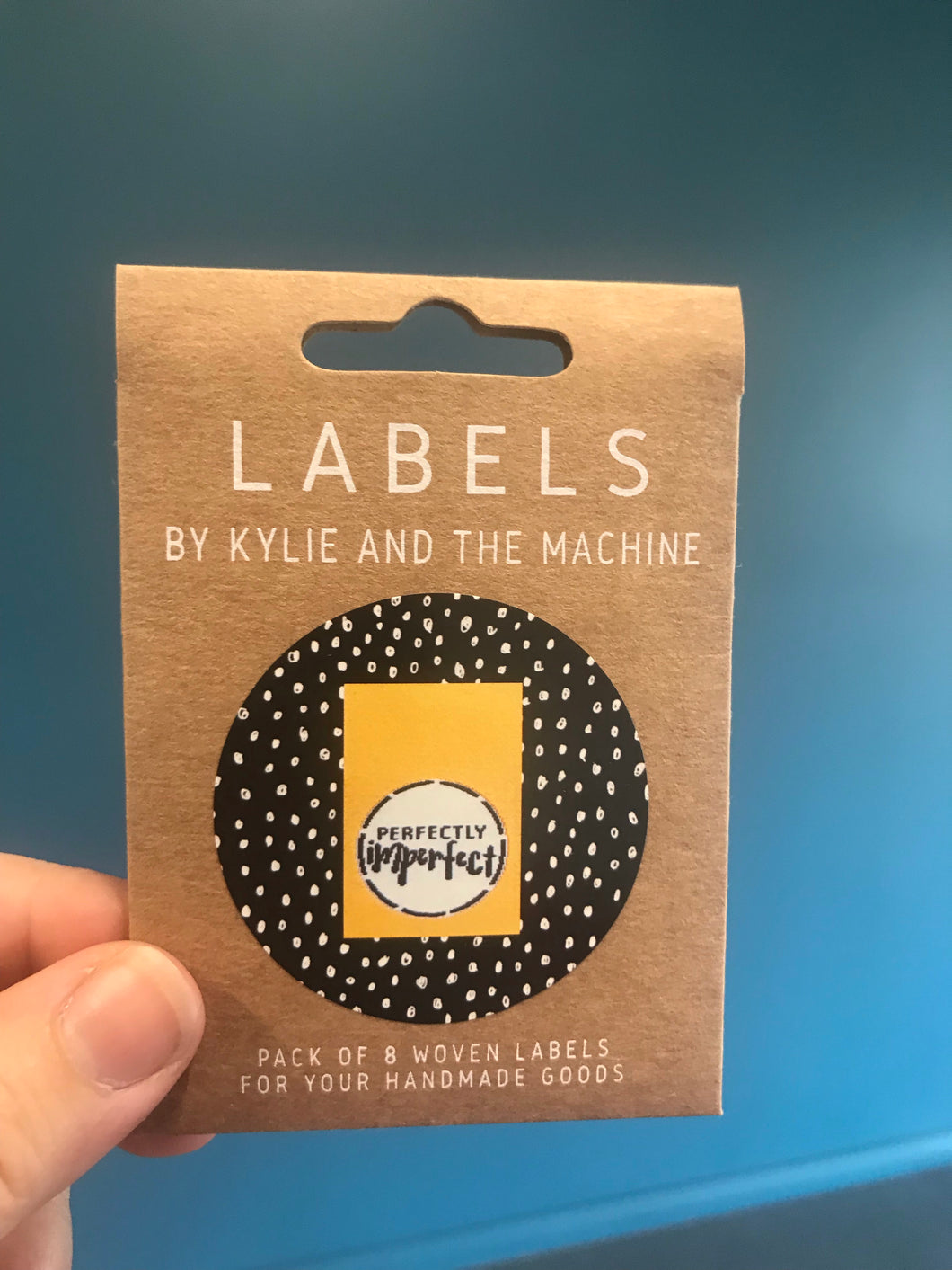 'Perfectly imperfect' woven label