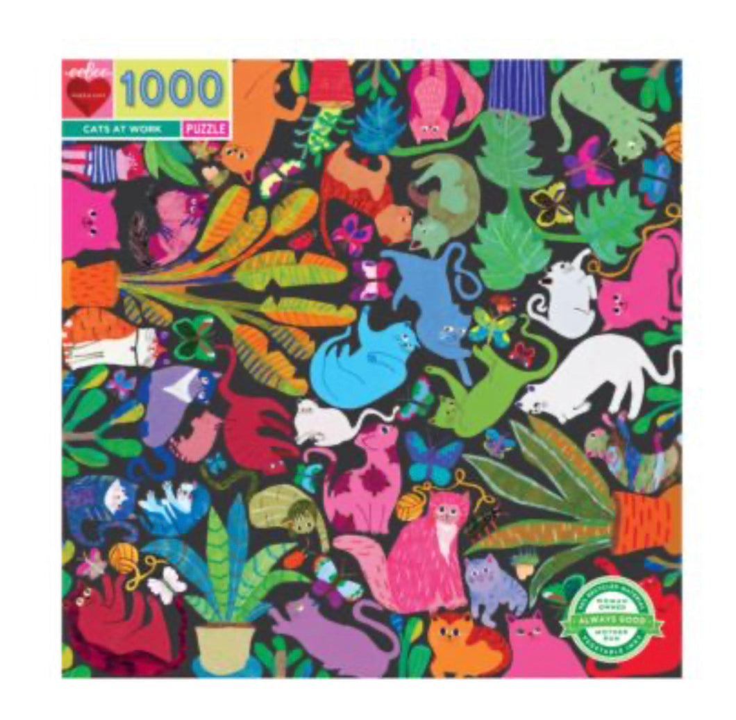 Puzzle Cats At Work 1000PCE