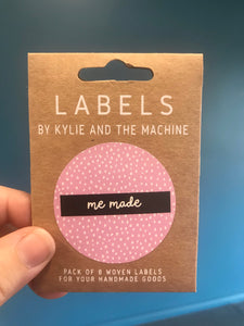 'Me Made' woven label