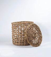 Rattan Laundry Hamper with Lid - Large