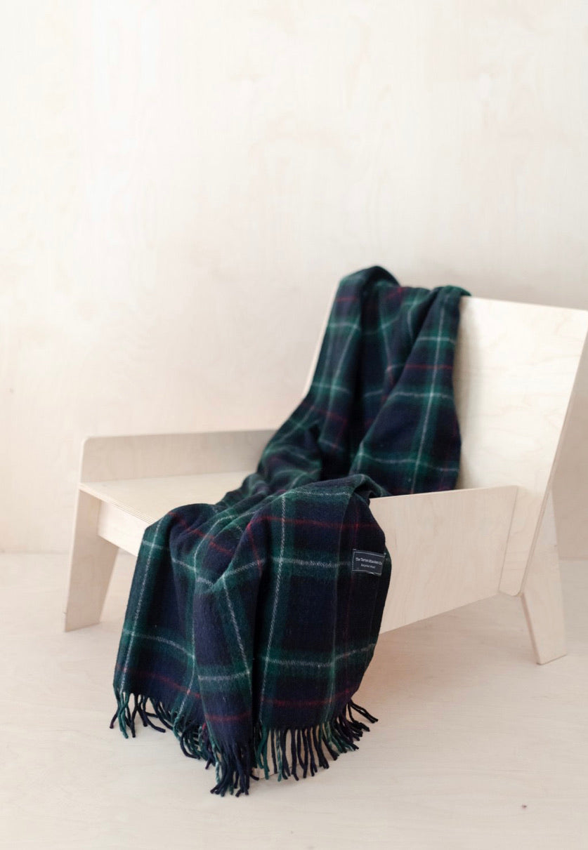 Tartan Traveller Blanket - Recycled Wool - Mackenzie