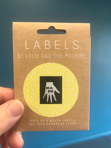 'Made' woven label