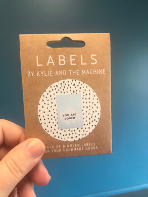 'You are Loved' woven label