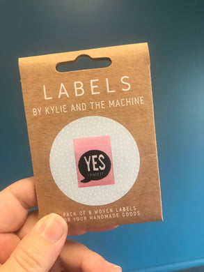 'Yes, I made it' woven label