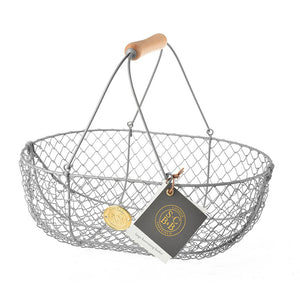 Wire Harvest Basket Large - Grey