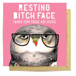 Card - Resting Bitch Face