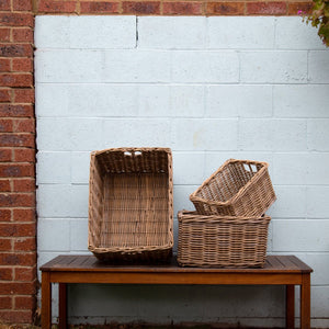Rattan Rectangle Storage Baskets *Local Delivery Only