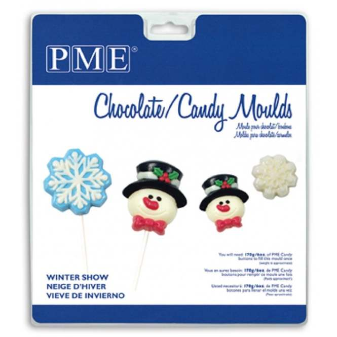 Frosty & Snowflake Mix Lolly Mould