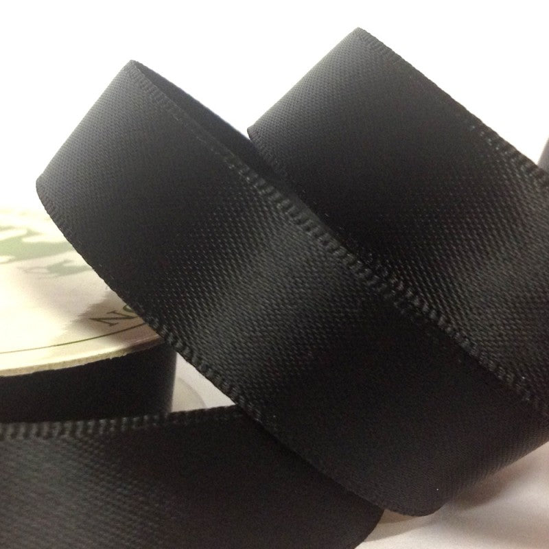 Black Coloured Ribbon - 22mm x 5m - Bakeworld.ie