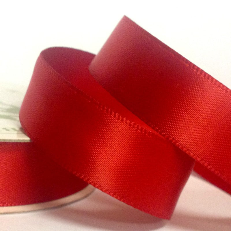 Scarlet Coloured Ribbon - 22mm x 5m