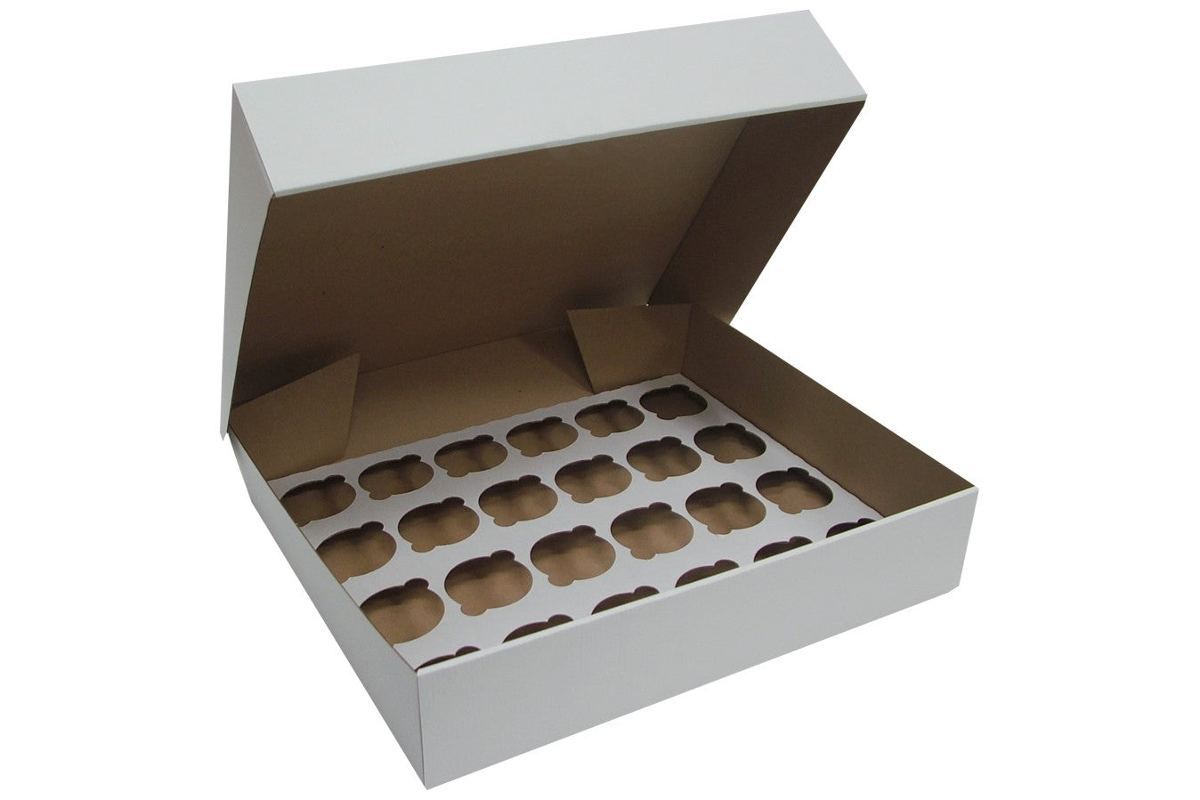"4"" Deep White Cupcake Box- 24 Count - Bakeworld.ie"
