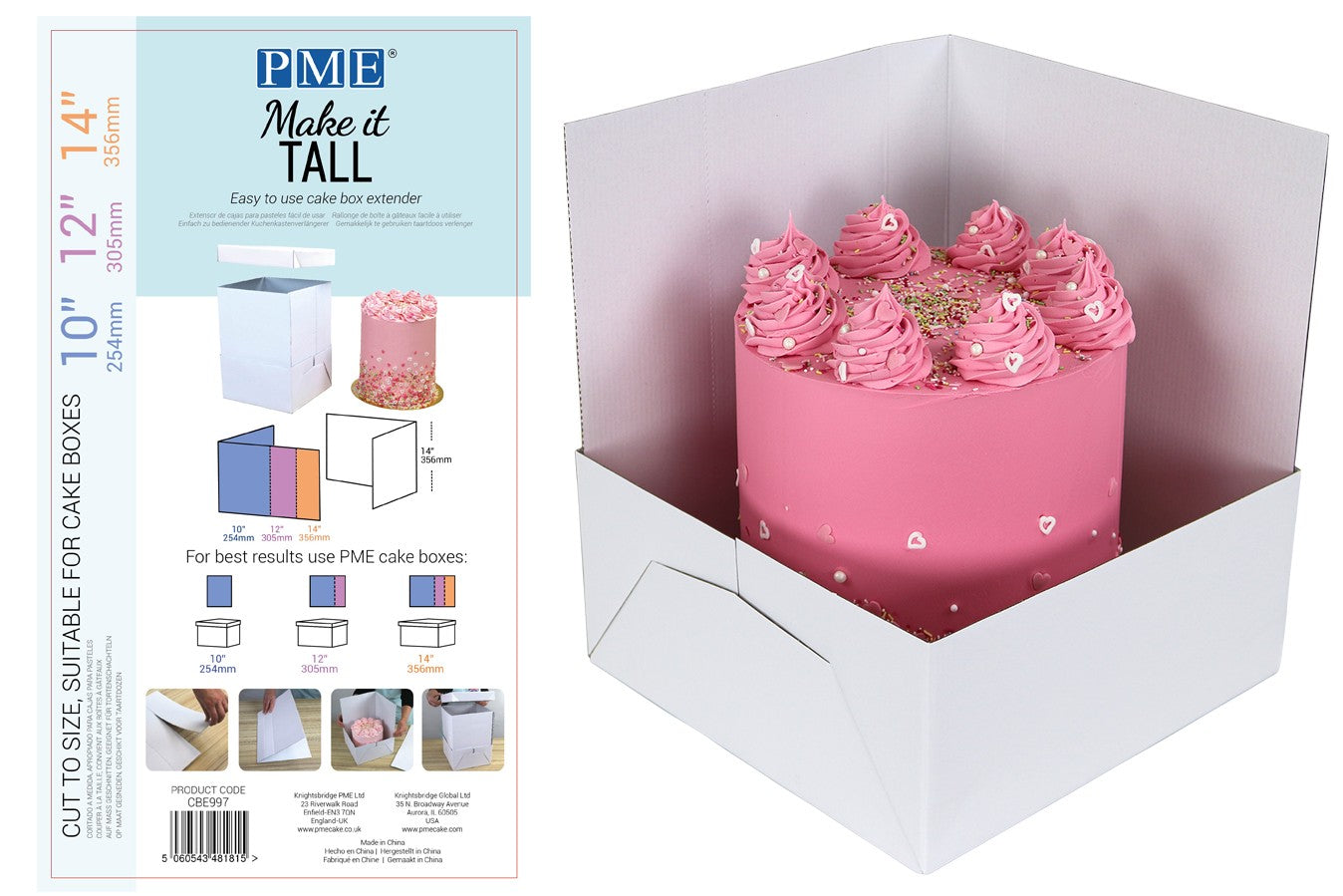 PME : Make it Tall - 3 in 1 Cake Box Extension