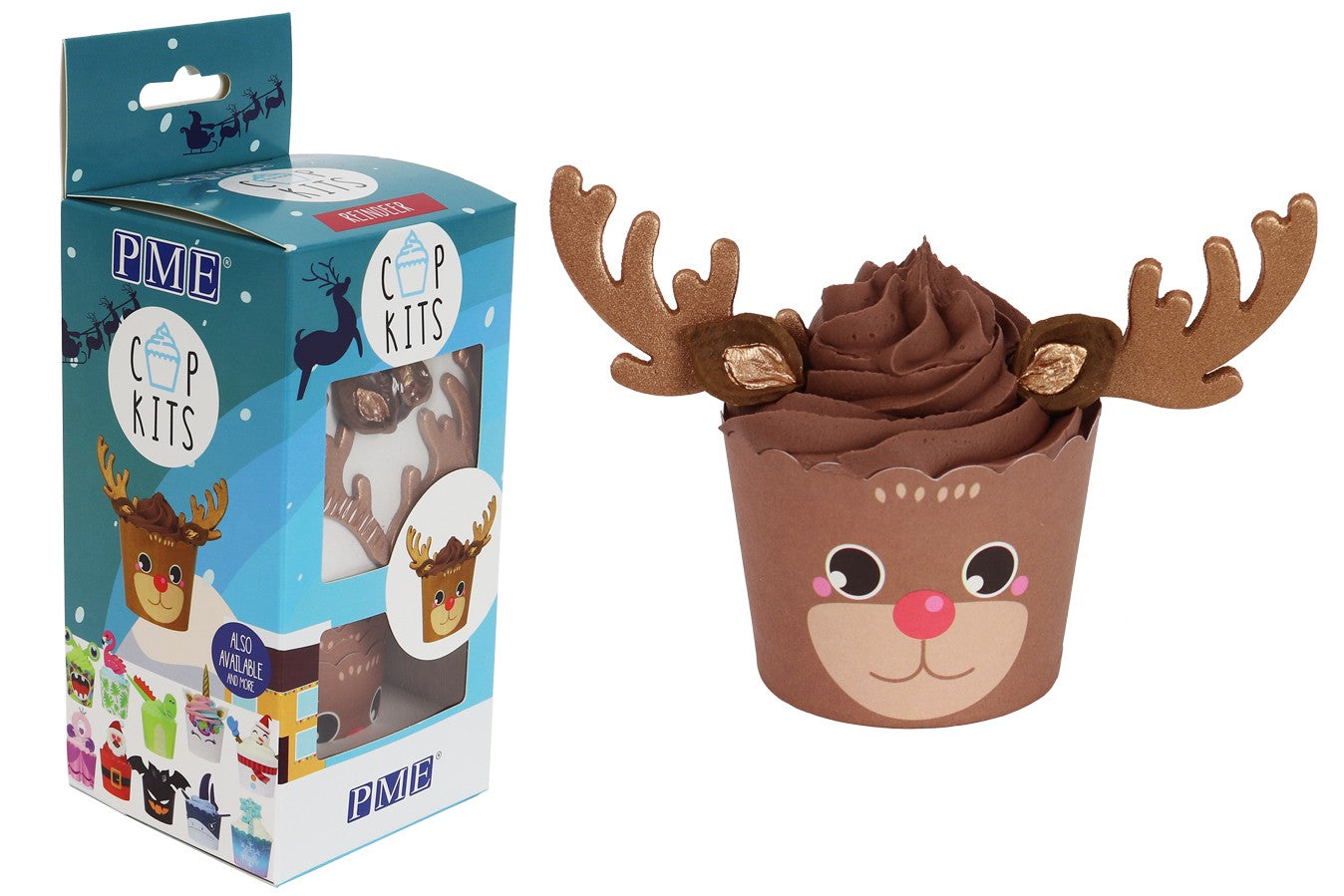 PME : CupKit - Rudolf Cupcake Decorating Kit