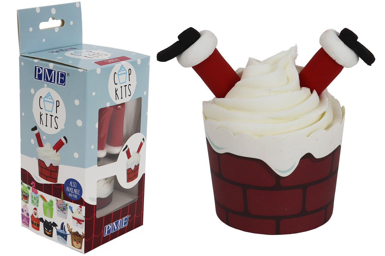 PME : CupKit - Santa Cupcake Decorating Kit
