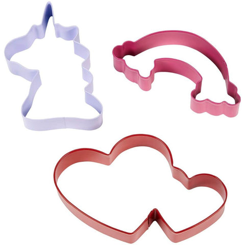 Wilton Magical Unicorn Metal Cookie Cutter Set/3